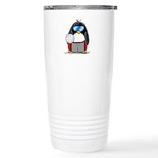 beach volleyball boy Penguin Travel Mug