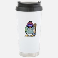 SnowBoard Penguin Travel Mug