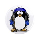 "Hockey Penguin 3.5"" Button"