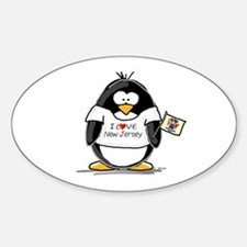 New Jersey Penguin Oval Decal