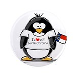 "North Carolina Penguin 3.5"" Button"