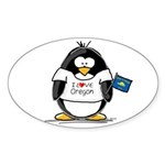 Oregon Penguin Oval Sticker