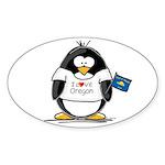 Oregon Penguin Oval Sticker