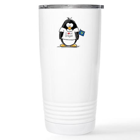 Oregon Penguin Stainless Steel Travel Mug