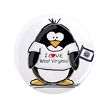 "West Virginia Penguin 3.5"" Button"