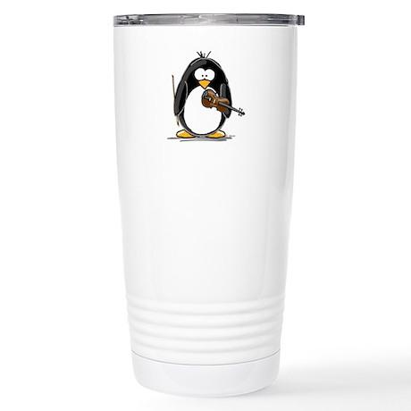 Violin Penguin Stainless Steel Travel Mug