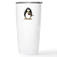 Violin Penguin Travel Coffee Mug