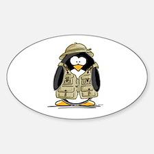 Safari Penguin Oval Decal
