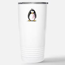 Breast Cancer penguin Travel Mug