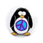 """Peace penguin 3.5"""" Button"""