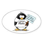 Pluto Penguin Oval Sticker