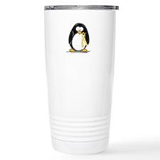 Yellow RIbbon penguin Travel Mug