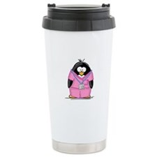 Nurse Penguin Travel Coffee Mug