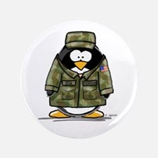 "US Military Penguin 3.5"" Button"