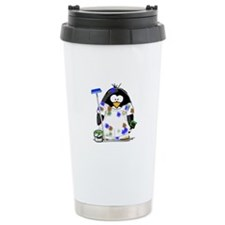 Painter Penguin Travel Mug
