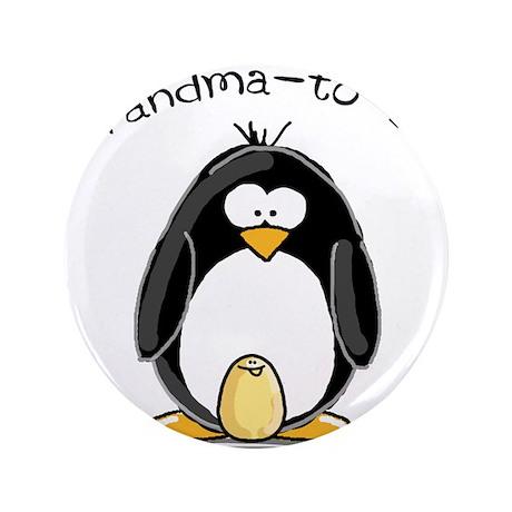 "Grandma to Be Penguin 3.5"" Button"