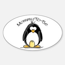 Mommy to Be Penguin Oval Decal