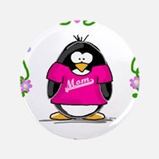 "Mom Penguin 3.5"" Button"