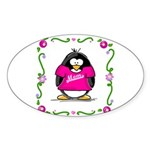 Mom Penguin Oval Sticker