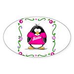 Mom Penguin Oval Sticker