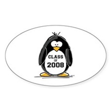 Class of 2008 Penguin Oval Decal