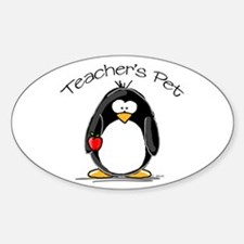 Teachers Pet Penguin Oval Decal