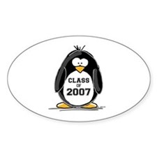 Class of 2007 Penguin Oval Decal
