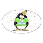 Senior 2007 Party Penguin Oval Sticker
