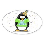 Senior 2007 Party Penguin Oval Sticker