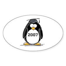 2007 Graduate Penguin Oval Decal
