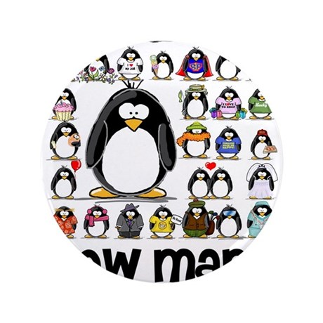 """too many penguins 3.5"""" Button"""