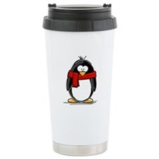 Red Scarf Penguin Travel Mug
