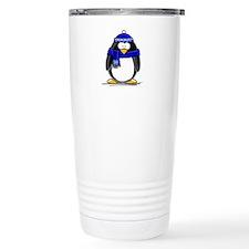 Blue Scarf Penguin Thermos Mug