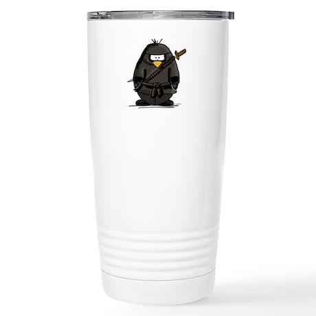 Martial Arts ninja penguin Stainless Steel Travel
