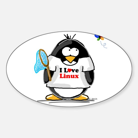 linux Penguin Oval Decal