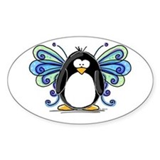 Blue Fairy Penguin Oval Decal