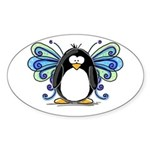 Blue Fairy Penguin Oval Sticker