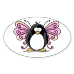 Pink Fairy Penguin Oval Sticker
