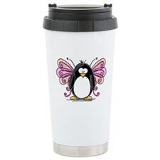 Pink Fairy Penguin Travel Mug