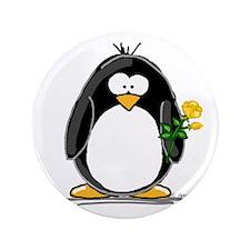 "Yellow Rose Penguin 3.5"" Button"