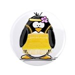 "Flapper penguin 3.5"" Button"