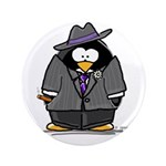 "Mobster penguin 3.5"" Button"