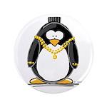 """Bling penguin 3.5"""" Button"""