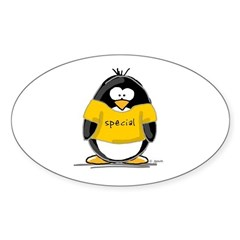 Special penguin Oval Decal