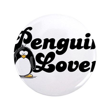 "Penguin Lover 3.5"" Button"