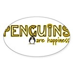 Penguins are Happiness Oval Sticker