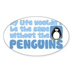 Without Penguins Oval Sticker