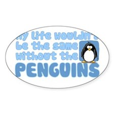Without Penguins Oval Decal