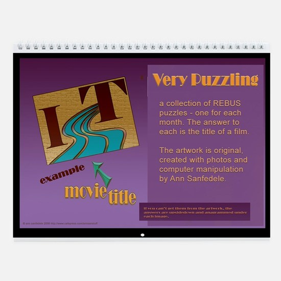 Very Puzzling rebus puzzles Wall Calendar