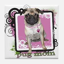 Pug Mom Tile Coaster